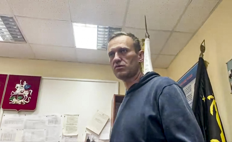 Alexei Navalny - poste de police de Khimki, Moscou, le 18/01/2021.