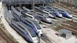 TGV trains at Paris's Gare du Nord