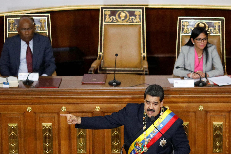 Discours du président vénézuélien Nicolas Maduro, le 10 août 2017 à Caracas.