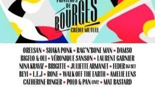 Cartaz Printemps de Bourges 2018
