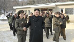 朝鮮領導人金正恩參觀革命戰役遺址2014年1月23日