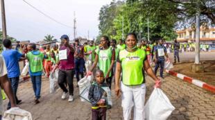 un «Eco-Running» à Porto Novo, au Bénin.