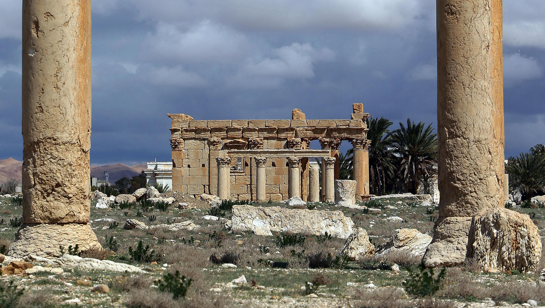 Le temple de Baalshamin à Palmyre en Syrie, le 14 mars 2014.
