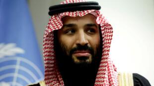 Thái tử Ả Rập Xê Út Mohamed Ben Salmane, tại trụ sở Liên Hiệp Quốc ở New York ngày 27/03/2018.