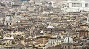 Vue aerienne de Rome, en Italie.