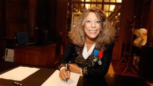 Barbara Cassin, à l'Académie Française, le 17 octobre 2019.