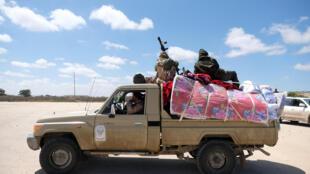 Soldats de l'ANL du maréchal Haftar, à Benghazi, ena vril 2019 (image d'illustration)