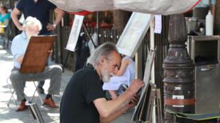 Los pintores de la Plaza du Tertre