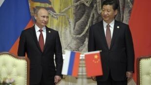 Vladimir Putin-Tập Cận Bình và trục Nga -Trung. Thượng Hải 20/05/2014.