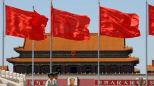 Place Tian'anmen, Chine, à l'occasion du 50ème anniversaire du début de la Révolution culturelle, le 16 mai 2016.
