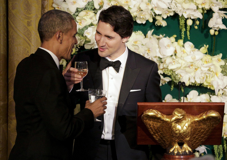 加拿大總理特魯多與美國總統奧巴馬