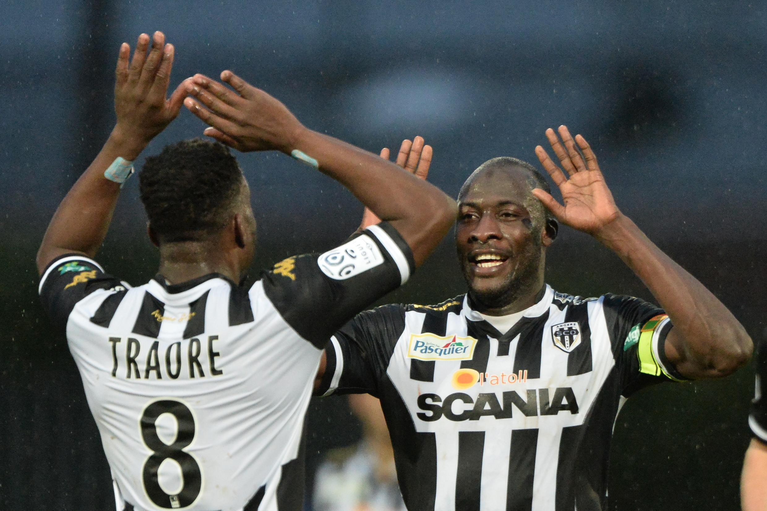 Cheikh Ndoye sous le maillot d'Angers.