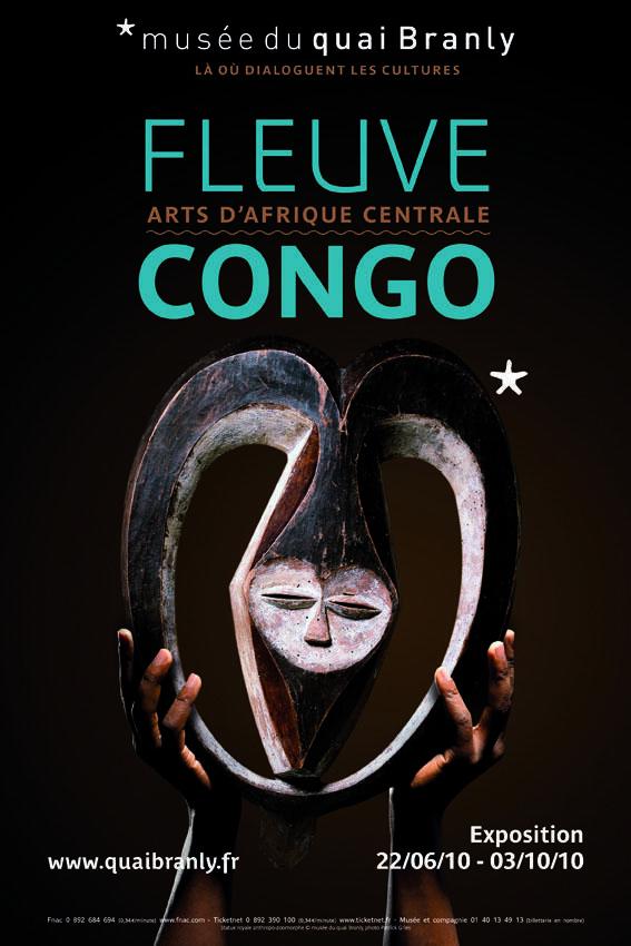 """Cartaz da exposição """"Fleuve Congo"""", museu Quai Branly, Paris."""