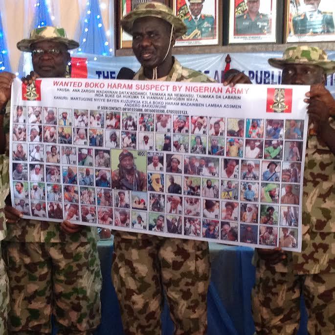 The Nigerian army has declared 100 Boko Haram  members wanted