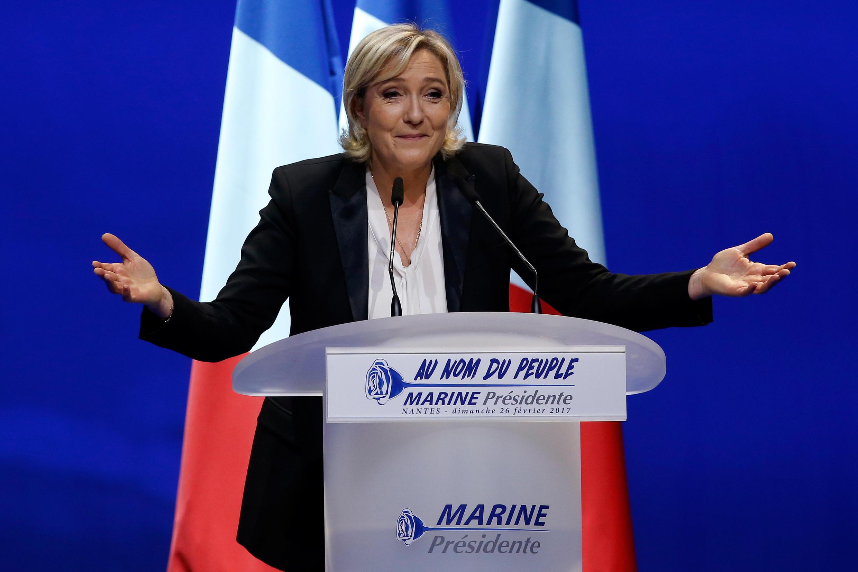 Marine Le Pen shugabar jam'iyyar FN ta masu kishin kasa a Faransa