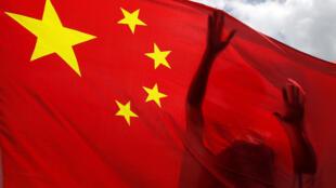 中國國旗特寫