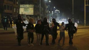 Colombie - Manifestation - Bogota - Police - Arrestations - AP21145153483923