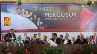 Durante a 46ª Cúpula do Mercosul, os presidentes dos países que integram o Mercosul exigiram um cessar-fogo na Faixa de Gaza.
