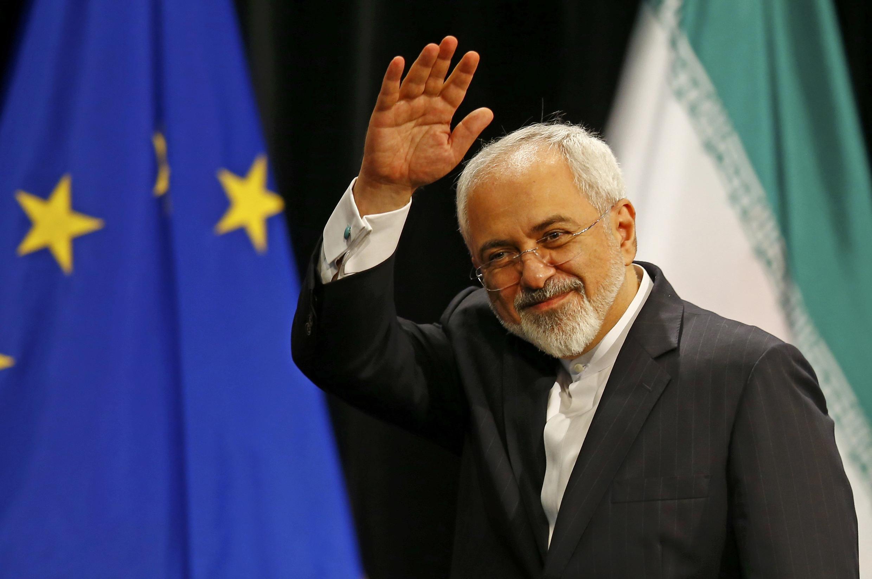 Министр иностранных дел Ирана Мохаммад Джавад Зариф, Вена, 14 июля 2015.