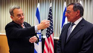 لئون پانه تا، وزیر دفاع آمریکا و ایهود باراک، همتای اسرائیلی اش