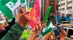 Tổng thống Thái Anh Văn trong chiến dịch vận động tranh cử ở Đài Bắc, Đài Loan, ngày 10/01/2020.