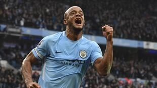 Vincent Kompany skippered Manchester City to an unprecedented domestic treble of League Cup, Premier League and FA Cup.