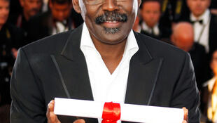 Le réalisateur tchadien Mahamat Saleh Haroun, prix du jury du 63e Festival de Cannes pour son film «Un Homme qui crie n'est pas un ours qui danse», le 23 mai 2010.