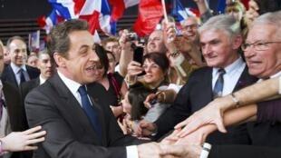 Cuộc mít tinh vận động tranh cử của ứng cử viên - tổng thống mãn nhiệm Nicolas Sarkozy tại Lyon  (17/03/2012)