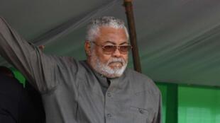 Tsohon shugaban kasar Ghana John Jerry Rawlings.