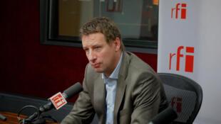 Yannick Jadot, député européen (EELV) de l'Ouest, porte-parole d'Eva Joly.