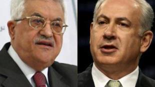 Le président de l'Autorité palestinienne Mahmoud Abbas et le Premier ministre israélien Benyamin Netanyahu.