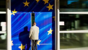 Une entrée du bâtiment de la Commission européenne à Bruxelles.
