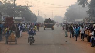 Patrouille Sangaris dans Bangui, décembre 2014.
