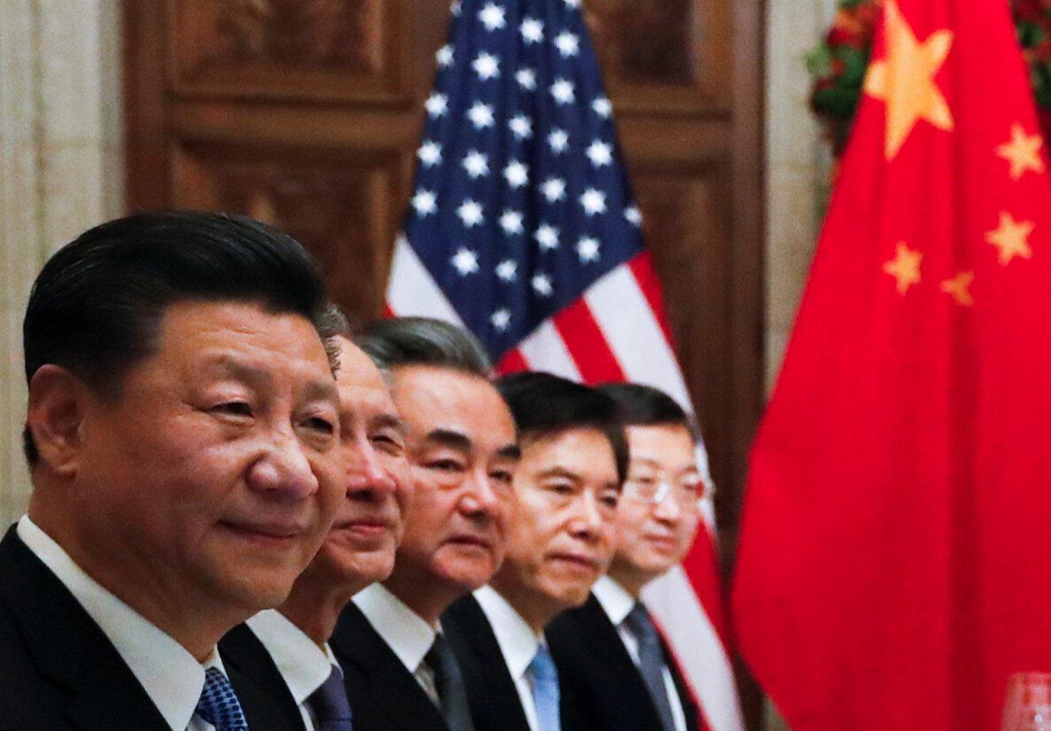 習近平及中國代表團成員在二十國集團峰會後與特朗普共進晚餐  2018年12月1日