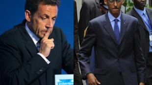 Nicolas Sarkozy, Paul Kagame.