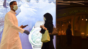 Saudis shop in the capital Riyadh as Muslims prepare to celebrate the Eid al-Fitr holiday on Sunday to mark the end of the fasting month of Ramadan