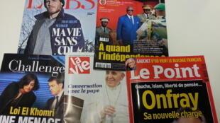 Capas de magazines news franceses de 12 de março de 2016