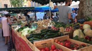 Một góc chợ trời ở Aix-en-Provence, miền nam Pháp.