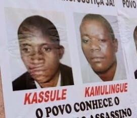 Cartaz exigindo justiça pelas mortes de Isaías Cassule e de Alves Kamulingue