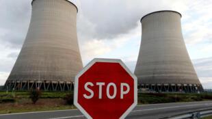 A nuclear power station at Belleville-sur-Loire.