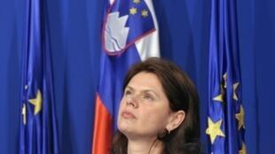 Alenka Bratusek, Premier ministre de Slovénie.