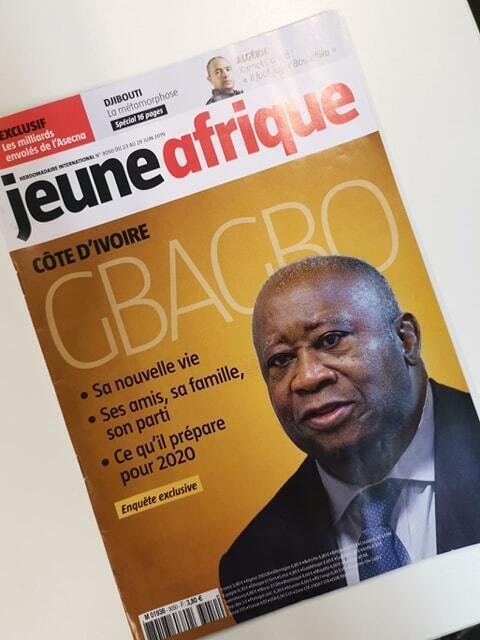 Capa do Semanário Jeune Afrique