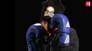 Sadaf Khadem, boxeuse iranienne.