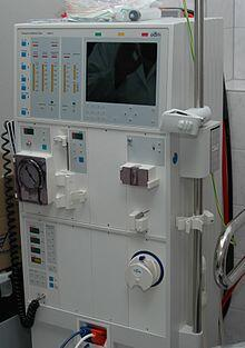 Un appareil d'hémodialyse.