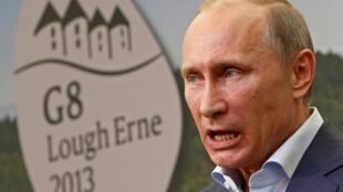 """В.Путин на саммите """"большой восьмерки"""" 18 июня 2013."""
