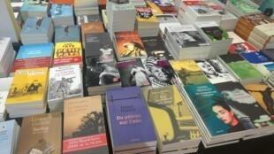 Étal de livres africains, lors du Salon du livre de Genève.