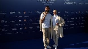 Madame Monsieur during the Red Carpet ceremony of the 63rd edition of the Eurovision Song Contest