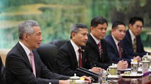 新加坡总理李显龙9月20日访问北京在人民大会堂与习近平会谈