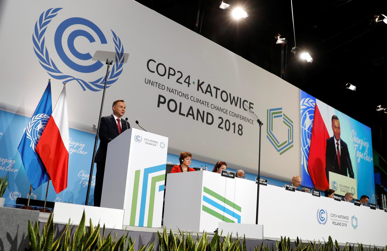 波兰总统安杰伊-杜达(Andrzej Duda)在24届联合国气候大会致辞 2018年12月3日卡托维兹