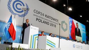Le président polonais Andrzej Duda lors de l'ouverture de la COP24 à Katowice, le 3 décembre 2018.